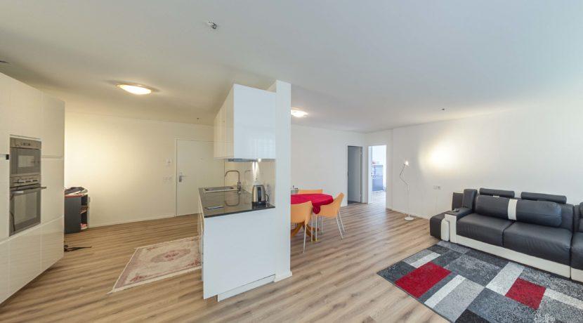 Wohnbereich in barrierefreier Wohnung in der Gaissbergstrasse am Remisberg