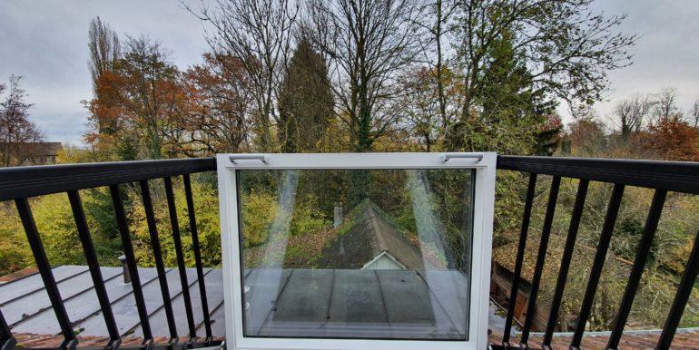 Dachaustrittsfenster mit Blick in die Natur