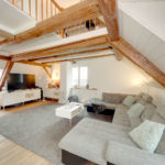 Wohnzimmer in Maisonette-Dachgeschoss-Wohnung, Wohnung mieten in Triboltingen - Retronova Immobilien AG